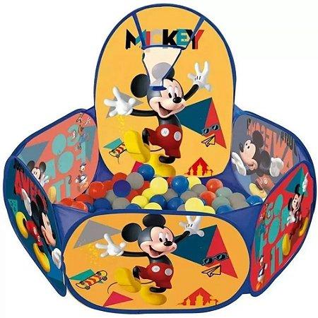 Piscina de Bolinha com Cesta de Basquete Mickey Mouse - ZIPP