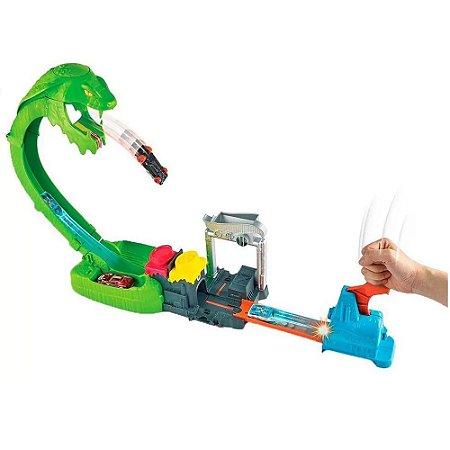 Pista Hot Wheels Ataque Tóxico da Serpente - Mattel
