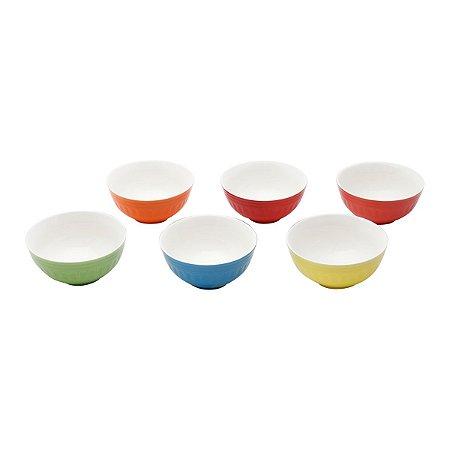 Kit c/ 06 Bowl Colorido Porcelana