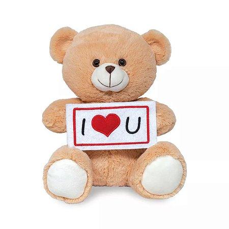 Pelúcia Urso I Love You - Buba Toys