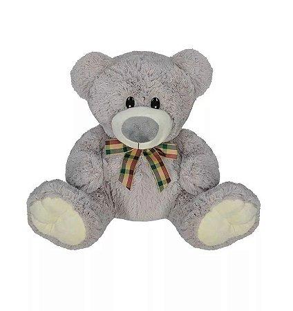 Pelúcia Urso Cinza 30 cm - D&a