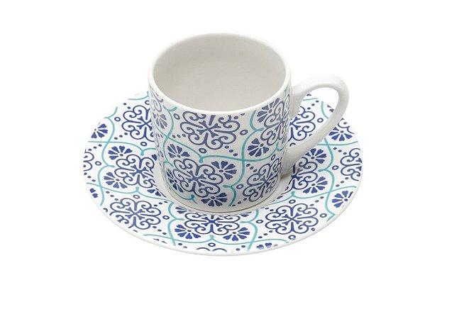 Jogo Xícaras Café / Cafezinho Lisboa Porcelana 90 ml
