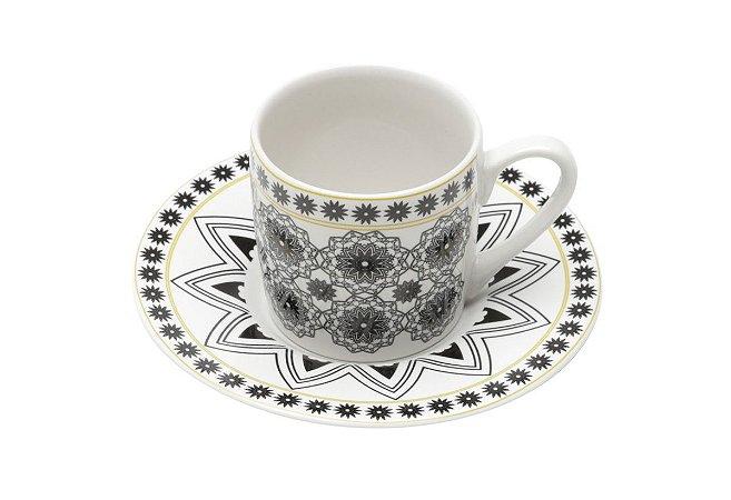 Jogo Xícaras Café / Cafezinho Black Porcelana 90 ml