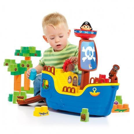 Baby Land NAVIO PIRATA com 30 blocos Cardoso Toys 8002