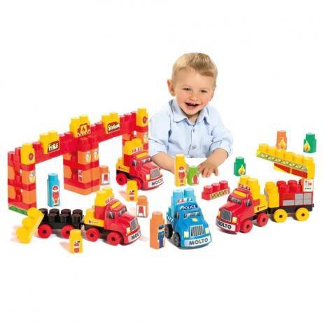 Baby Land SUPER RESGATE 125 peças e blocos educativos CARDOSO 8004
