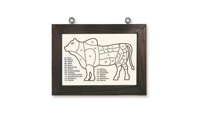 Quadro Boi Cortes De Carne