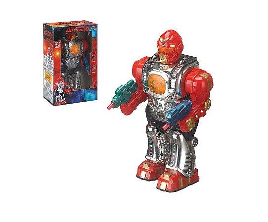 Robô Guerreiro do Espaço c/ Som e Luzes Art Brink