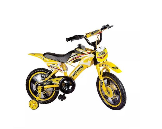 Bicicleta Bike Moto Cross Aro 16 Amarelo