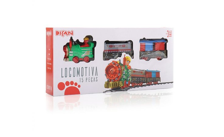 Locomotiva da Dican 15 Peças