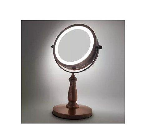 DUPLICADO - Espelho Giratório de Bancada com Led e Auemnto