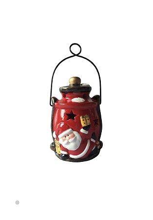 Lanterna Papai Noel  c/ Led