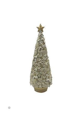 Enfeite Árvore de Natal Resina Dourado