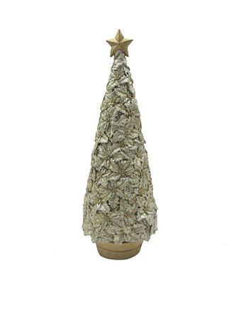 Enfeite Árvore de Natal Resina Dourado 33,5 cm
