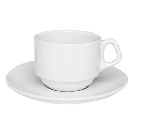 Xícara de Chá / Café c/ Leite 220 ml Empilhável Oxford - Avulsa