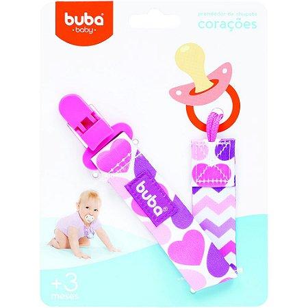 PRENDEDOR DE CHUPETA CORAÇÕES - BUBA BABY