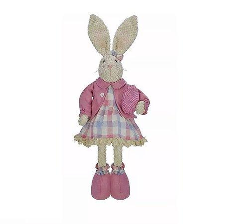 Coelha Com Casaco Em Pé 60 Cm