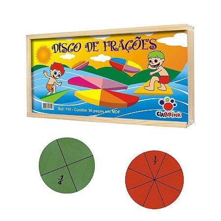 Brinquedo Educativo Disco de Frações CiaBrink
