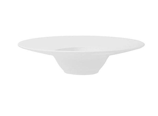 Jogo com 02 Pratos de Entrada Porcelana Branca Oxford