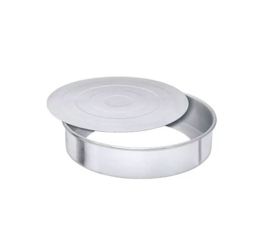 Assadeira Bolo Com Fundo Removível N. 26 Alumínio Nigro