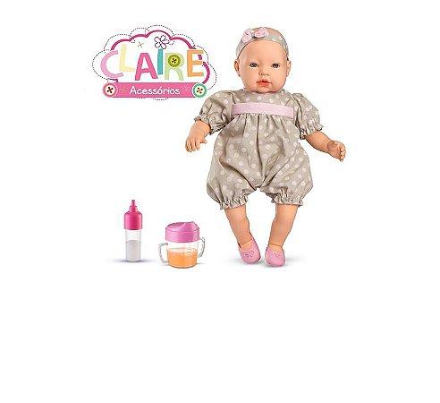 Boneca Bebê Claire com Acessórios Roma