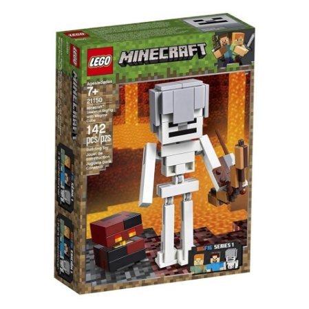 Lego Minecraft BigFig Esqueleto com Cubo de Magma 21150