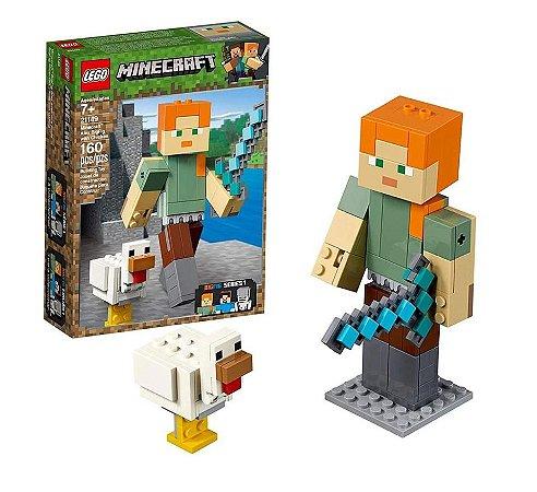 Lego Minecraft BigFig Alex com galinha 21149