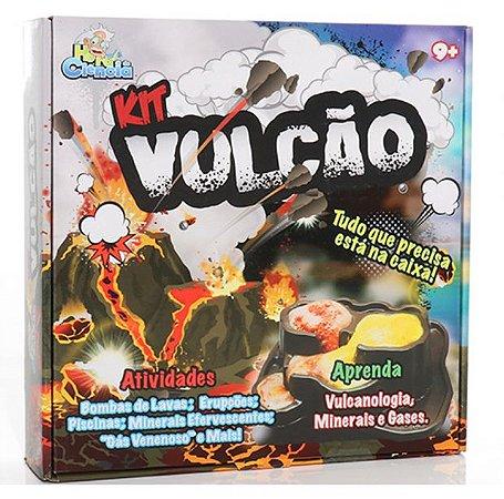 Brinquedo Educativo Kit Vulcão Médio Hora da Ciência Dican