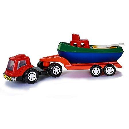 Caminhão Cerreta com Barco Poliplac