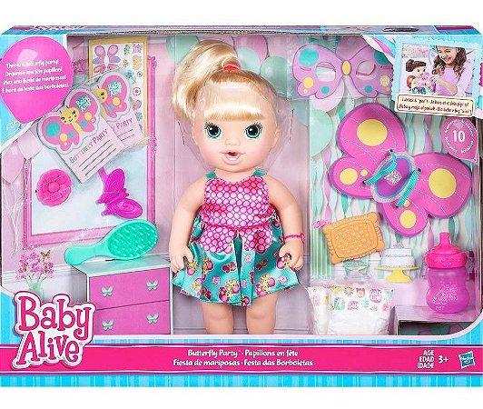 Boneca Baby Alive Festa Das Borboletas Loira
