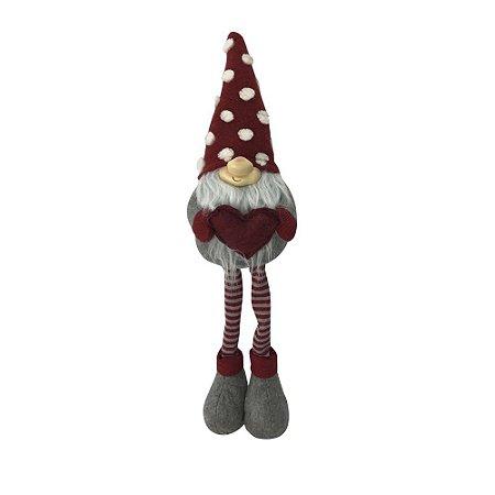 Boneco Natal Gnomo 61 cm D&A