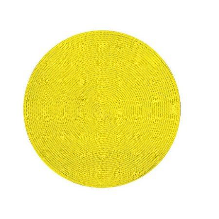 Jogo Americano Amarelo Ouro Redondo Yoi