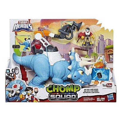 Dinossauro Chomp Squad Doc Tops Hasbro - E1976