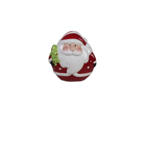 Porta Guardanapo de Cerâmica Papai Noel