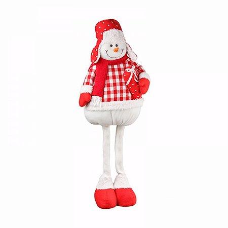 Boneco De Neve De Natal Em Pé - Candy 70cm - Decoração