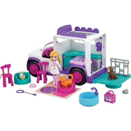 Hospital Móvel dos Bichinhos Polly Pocket Mattel