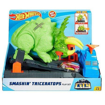 Pista Hot Wheels City Ataque de Triceratops - GBF97