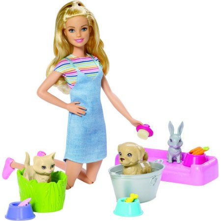 Barbie Banho de Cachorrinhos  Mattel -  FXH11