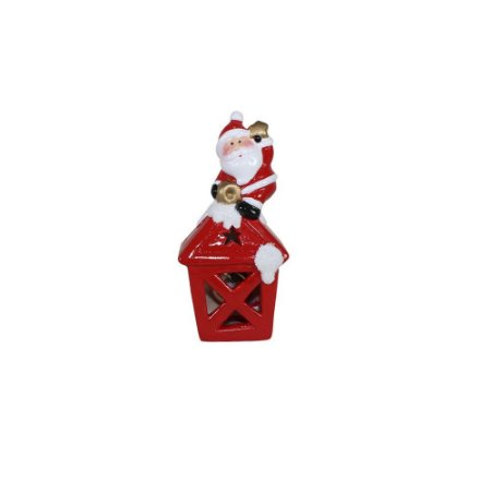 Enfeite Natal Mini Luminária Papai Noel