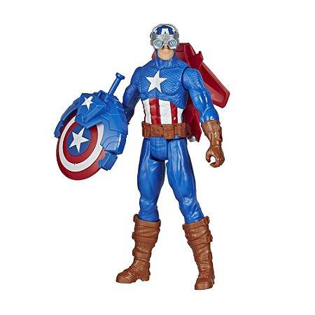 Boneco Capitão América com Acessórios Hasbro - E7374