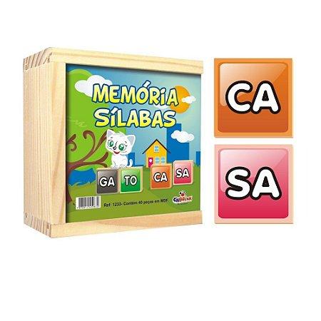 Aprendendo Sílabas com Memória Sílabas CiaBrink