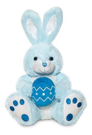 Coelho Pelúcia Azul Ovo De Páscoa - Buba Toys