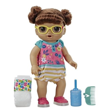 Boneca Baby Alive Bebê Passinhos Morena - Hasbro