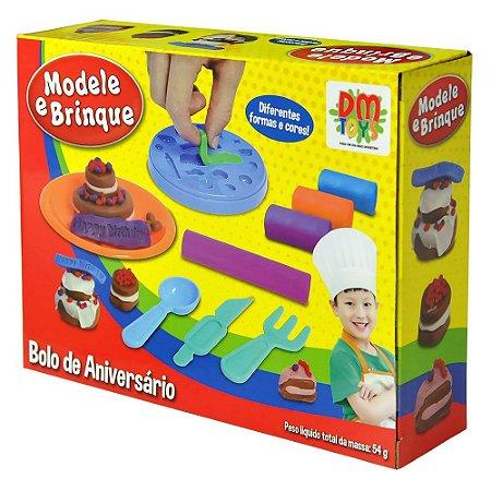 Massinha Modele e Brinque Bolo de Aniversário - DM TOYS