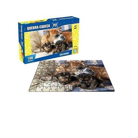 Quebra-Cabeça Pet Cachorro 108 Peças - NIg