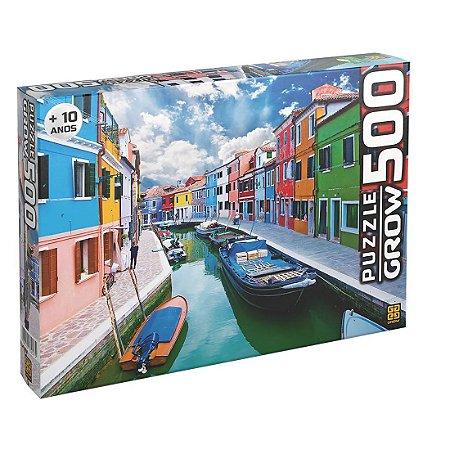 Puzzle Canal de Burano Quebra-Cabeças 500 P