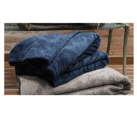 Cobertor Manta Blanket Jacquar Queen Blue- Kacyumara