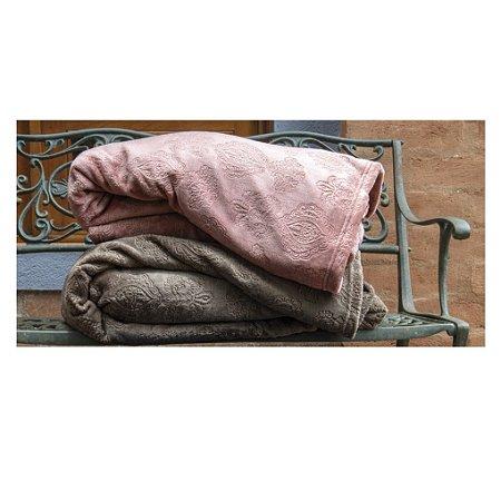 Cobertor Manta Blanket Jacquar Queen Marrom Cacau  Kacyumara