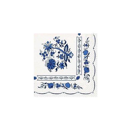 Guardanapo Descartável Flores Azuis Dayhome