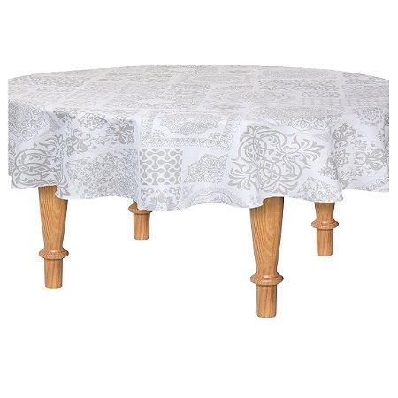 Toalha de Mesa Redonda Limpa Fácil 1,60 cm Concy Kacyumara