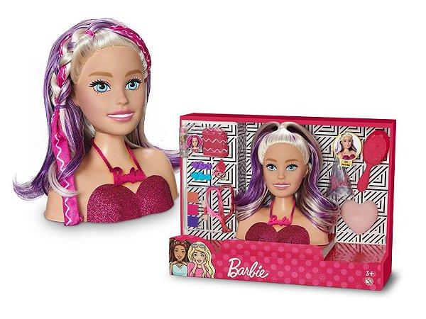 Boneca Barbie Styling Hair Head Faces Pupee